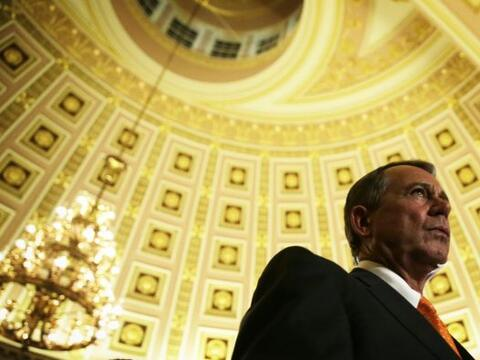 El presidente de la Cámara de Representantes, el republicano John...