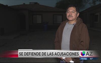 Hombre se defiende de acusaciones de violencia doméstica por parte de su...