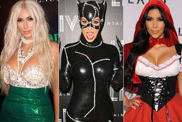 Kim Kardashian adora disfrazarse y aquí tenemos la selección de sus atue...