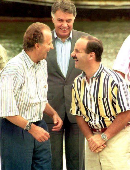 El Rey bromea con el presidente de Costa Rica, José María Figueres ( der...