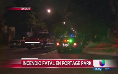 Un muerto tras incendio en Portage Park