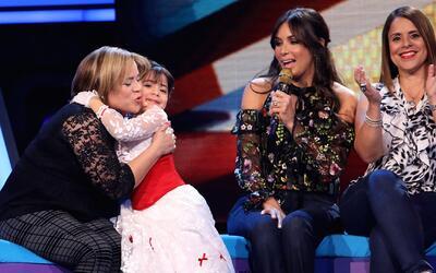 Giuliana vivió un momento muy emotivo cuando pudo abrazar a su tía
