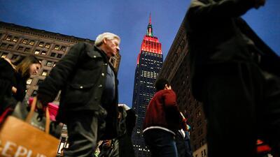 Al fondo de esta imagen, el Empire State Building, uno de los edificios...
