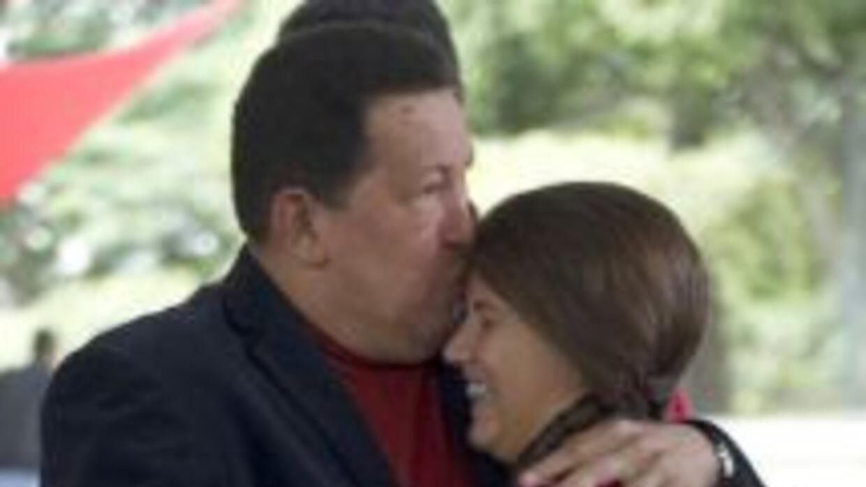 El presidente venezolano, Hugo Chávez, aseguró que está 'muy bien de sal...