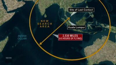 Extienden la búsqueda del avión de Malaysia Airlines al Océano Índico