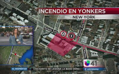 Se incendia edificio en Yonkers dejando a seis heridos
