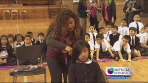Estudiantes donan su cabello para apoyar una buena causa