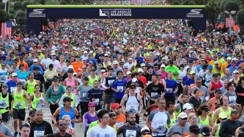 Imagen de una edición del Maratón de Los Ángeles.