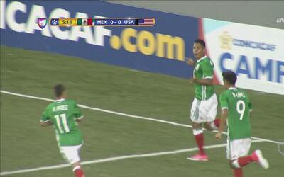 Roberto de la Rosa firmó el 1-0 de México ante Estados Unidos