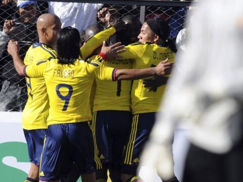 Colombia festejó su único gol del partido y con el cual de...