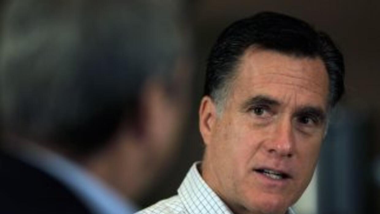 El multimillonario Mitt Romney, cuya campaña está mejor financiada y org...