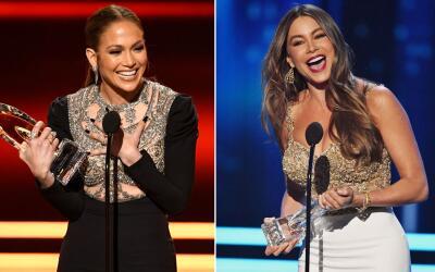 Jennifer Lopez y Sofía Vergara fueron de las grandes ganadores de...