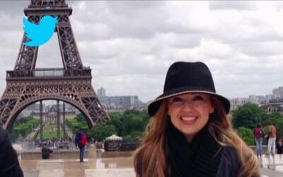 Thalía sigue disfrutando de las calles parisinas y comparte su felicidad...