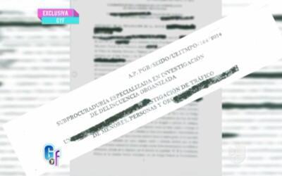 Documentos con la declaración de una de las supuestas víct...