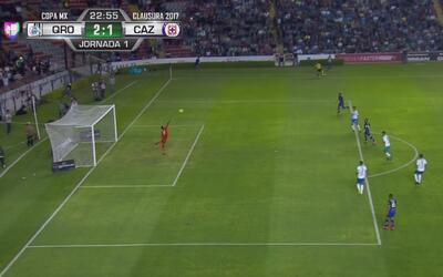 Golazo de Luis Noriega para poner adelante a Gallos por 2-1 sobre Cruz Azul