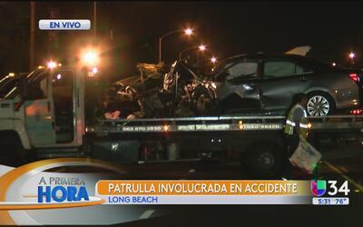 Investigan choque vehicular en Long Beach en el que está involucrada una...