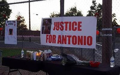 Vigilia Antonio Brown, Manteca, California.
