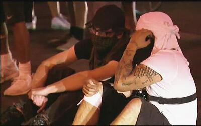 ¿Pandilleros en protestas contra Trump?