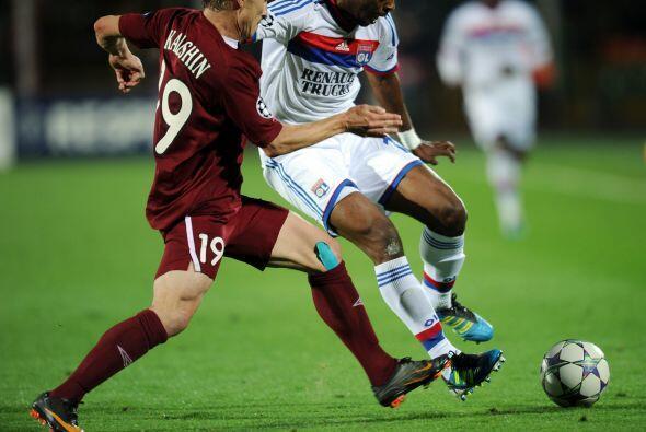 Horas antes, el Lyon había visitado al Rubin Kazan.