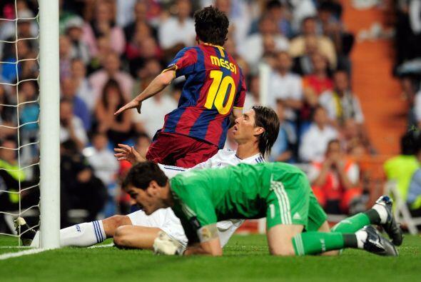 Así quedaron Casillas y Ramos tras el primer gol de Messi.