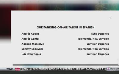 Univision Deportes recibió seis nominaciones para los premios Emmys