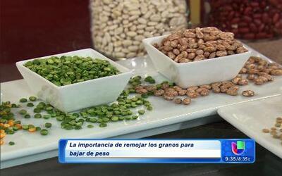 Claudia Molina explicó los beneficios de remojar los granos como frijole...