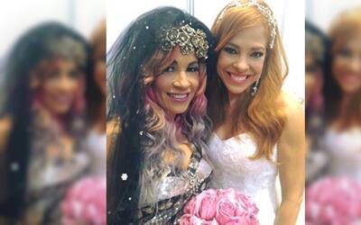 Suzette y Glerys se visten de novia y se gozan el momento