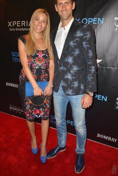 Novak Djokovic y su compañera.