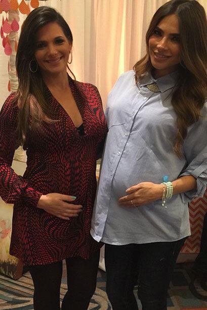 ¡Dos lindas embarazadas! Bárbara Bermudo posa con Ale Espin...