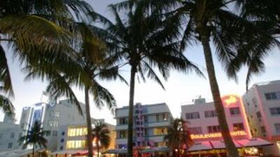 Vista de Ocean Drive en Miami Beach.