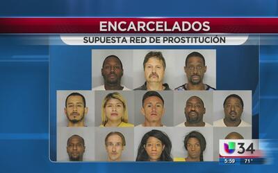 Caen miembros de red de prostitución en el condado Hall