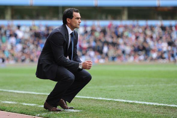 Roberto Martínez, técnico del Wigan, se quedó sin su silla pero improvis...