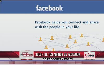 Solo 4 de tus amigos en Facebook se preocupa por ti