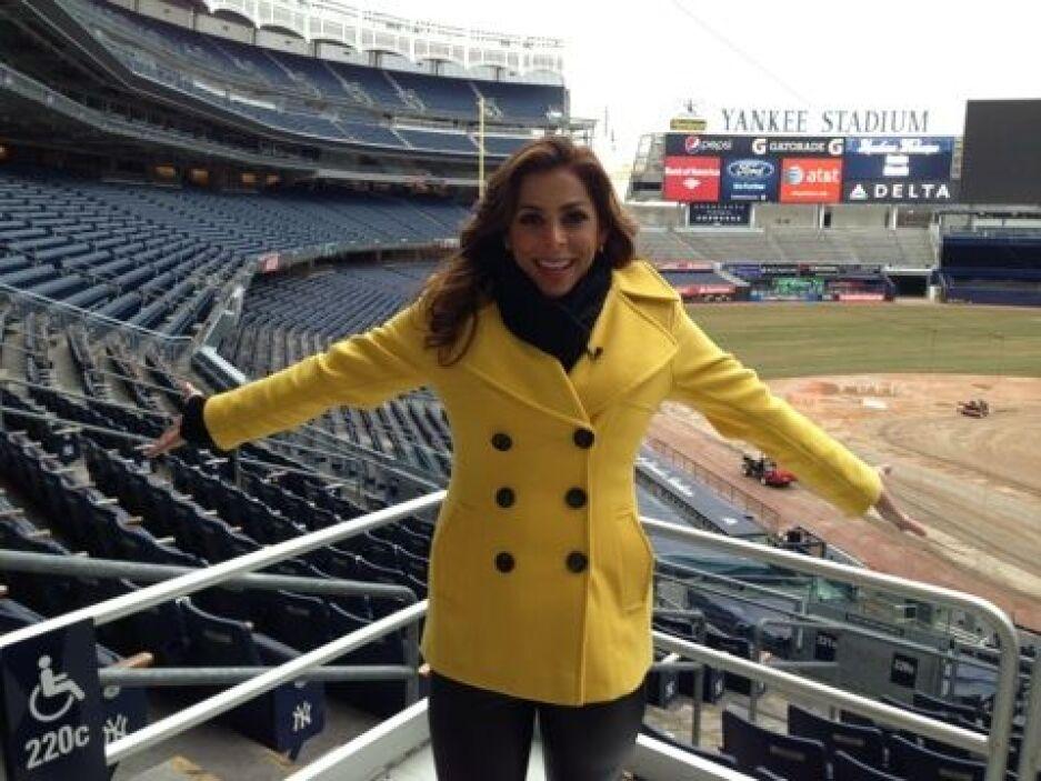 ¡Qué enormidad estar en el Yankee Stadium.