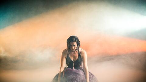 Mariana Vega en la grabación del video de 'La Marea'.