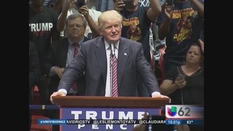 Donald Trump volvió a su postura fuerte contra los inmigrantes