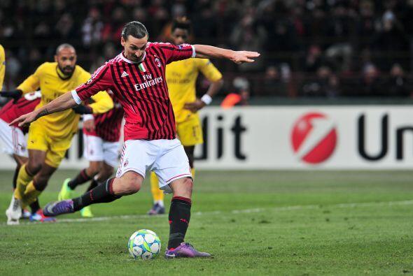 Pero se marcó un penalti en favor de los locales, Zlatan cobr&oac...