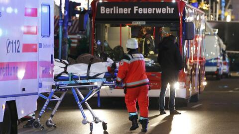 Un camión se lanzó contra un mercado callejero en Berlín