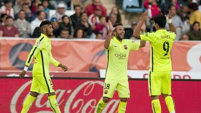 Los culés vinieron de atrás para sacar la victoria en Almería.