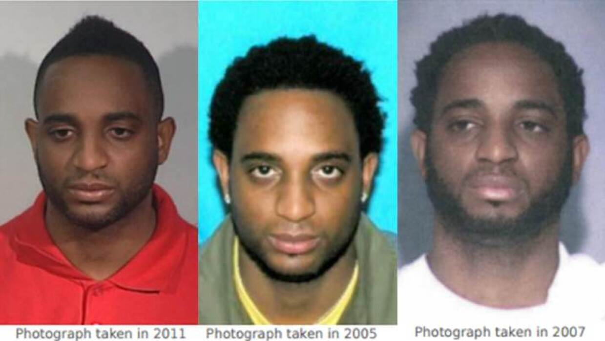 Imágenes de Marlon Jones en 2011 (i), 2005 (c) y 2007 (d)