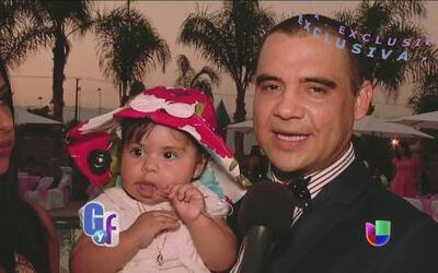 Darey de la Sierra invitó al Gordo y La Flaca al bautizo de su hijita