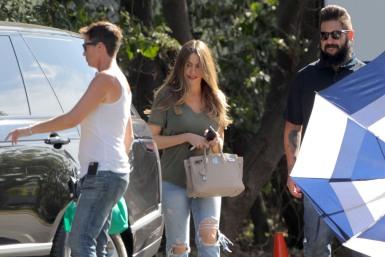 Sofía Vergara volvió al set de 'Modern Family'.