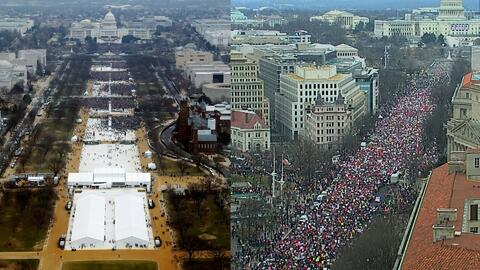 La marcha de las mujeres, más multitudinaria y con más estrellas que la...