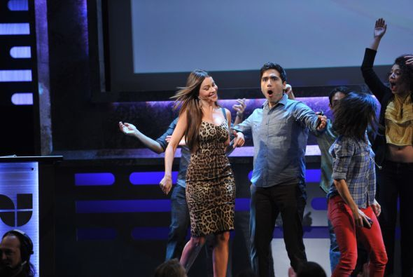 Sofía Vergara llegó como toda una diva al 2012 Univision Upfront.