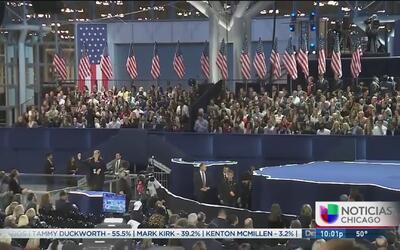 Desánimo en la sede para el festejo de Hillary Clinton en NY