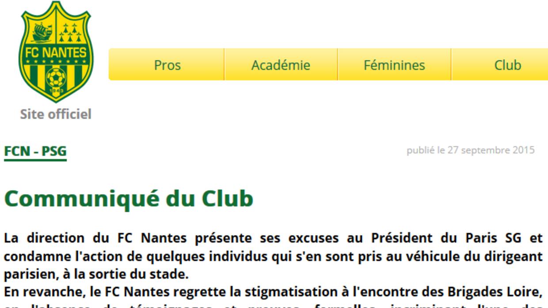 Comunicado Nantes