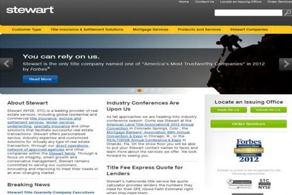 STEWART TITLE- La compañía de aseguranza busca cumplir pue...
