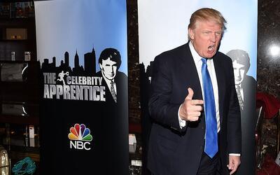 Trump durante la alfombra roja de The Apprentice en 2015.