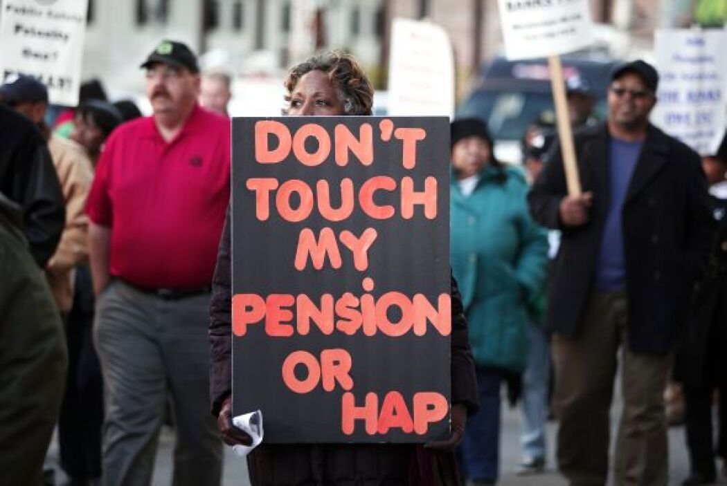 Los sindicatos de empleados públicos y los grupos de jubilados habían cu...