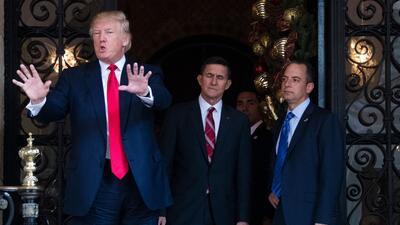 Donald Trump se retiró a su residencia de Mar-A-Lago, Florida, pa...